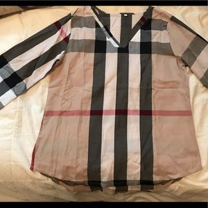 Tops - Plaid Blouse BRAND NEW